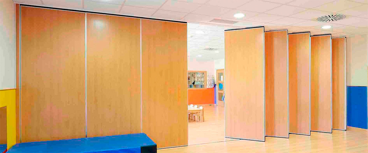Acoustic sliding folding partition movable wall for Acoustic folding partitions