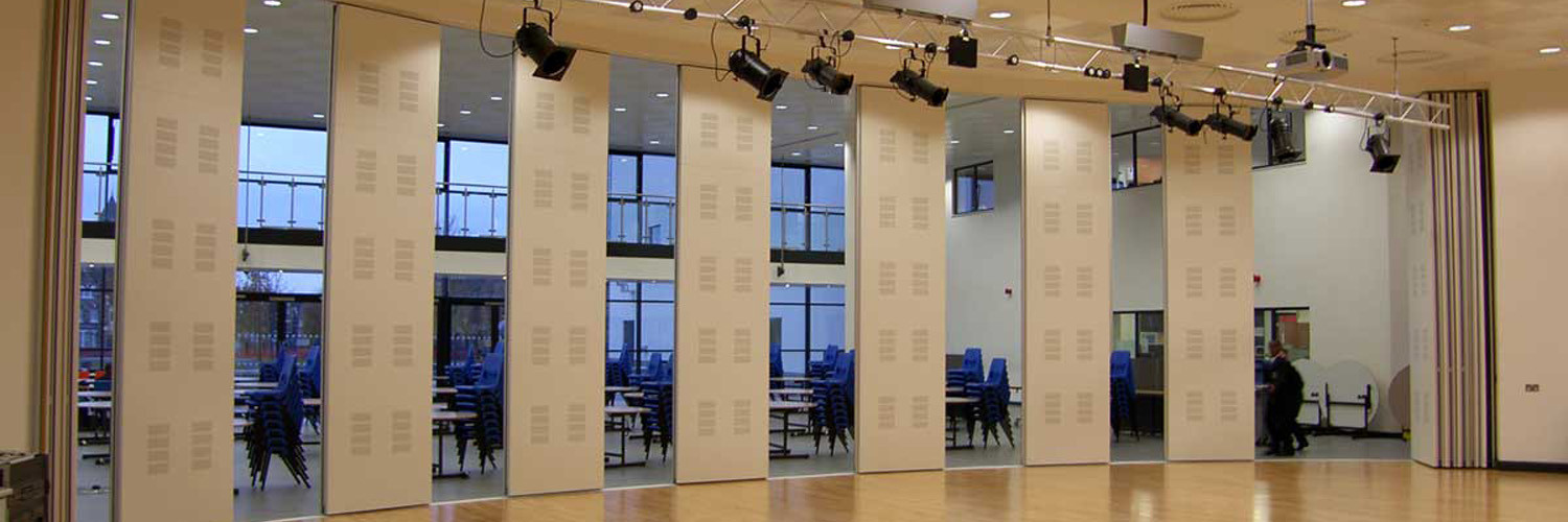 Acoustic sliding folding partition movable wall for Sliding door partition wall