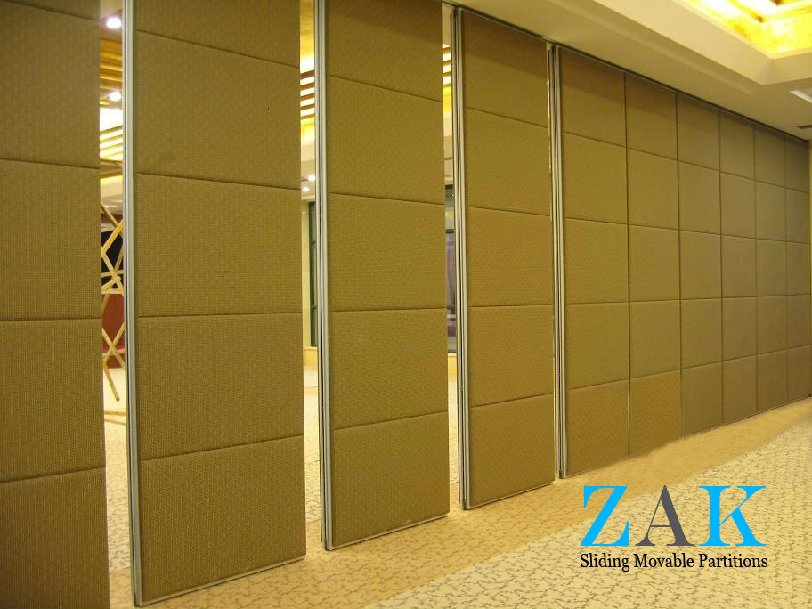 Type 100 series sliding folding partition zak partitions for Movable walls room partitions